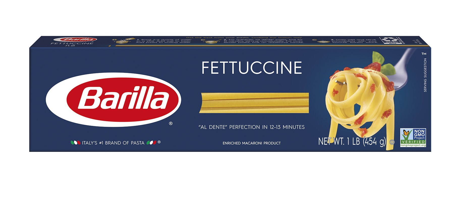 Barilla Pasta, Fettuccine, 16 Ounce (Pack of 8)