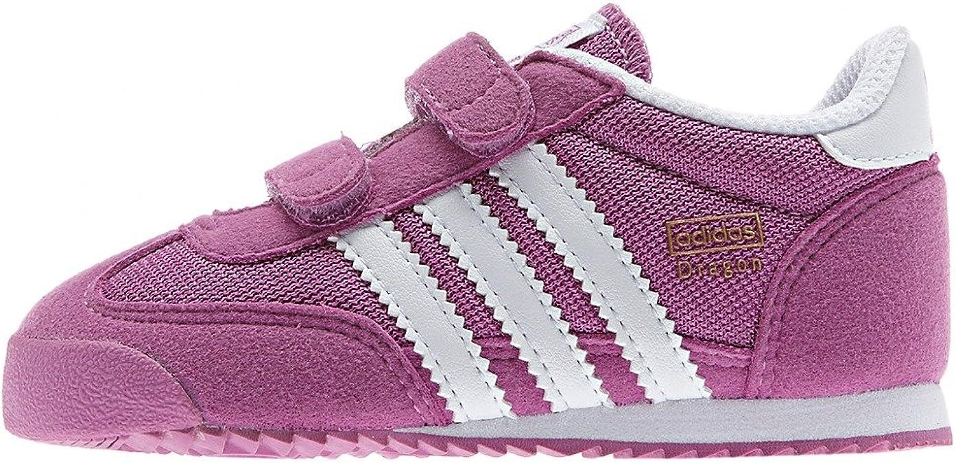 Amazon.com | Adidas Dragon CF Infant/Toddler Sneakers Purple ...