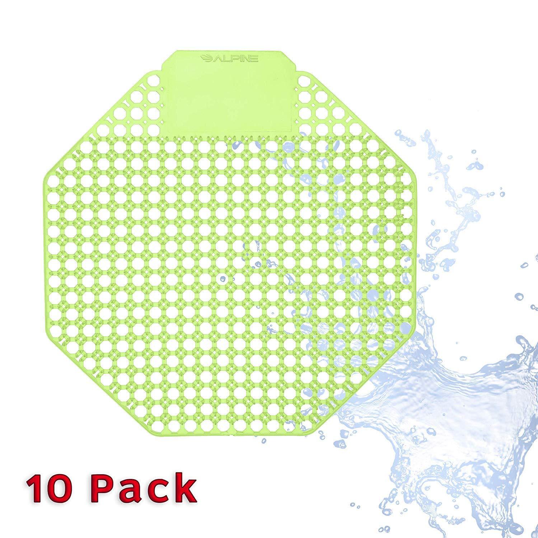 Alpine Industries Urinal Screen Deodorizer Lasts for Up to 5000 Flushes – Anti-Splash & Odor Neutralizer – Ideal for Bathrooms, Restrooms, Office, Restaurants, Schools (Cucumber Melon)