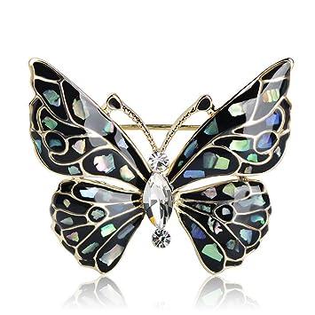 Amazon.com: Azul broche de mariposa accesorios de ropa Gold ...