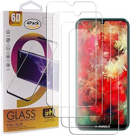Guran 4 Paquete Cristal Templado Protector de Pantalla para V ...