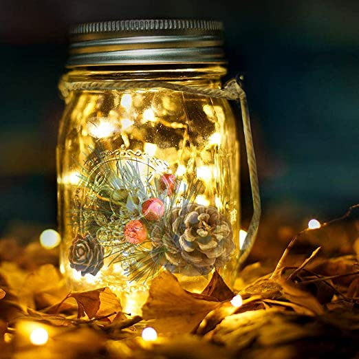 20 LED L/ámpara de Decoraci/ón Solar para Jard/ín Luz Solar Mesa 20 LED L/ámpara de Ahorro de Energ/ía e Impermeable para Interiores//Exteriores Festival y L/ámpara de Decoraci/ón de Fiesta de Bodas
