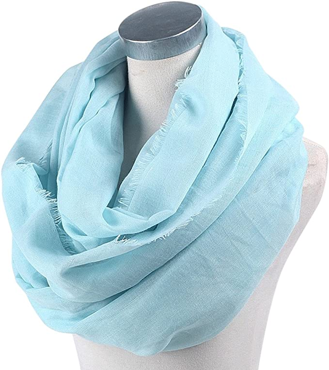 CJ Apparel White Mobius Infinity Scarf Snood Cowl Tube Round Shawl Seconds *NEW*