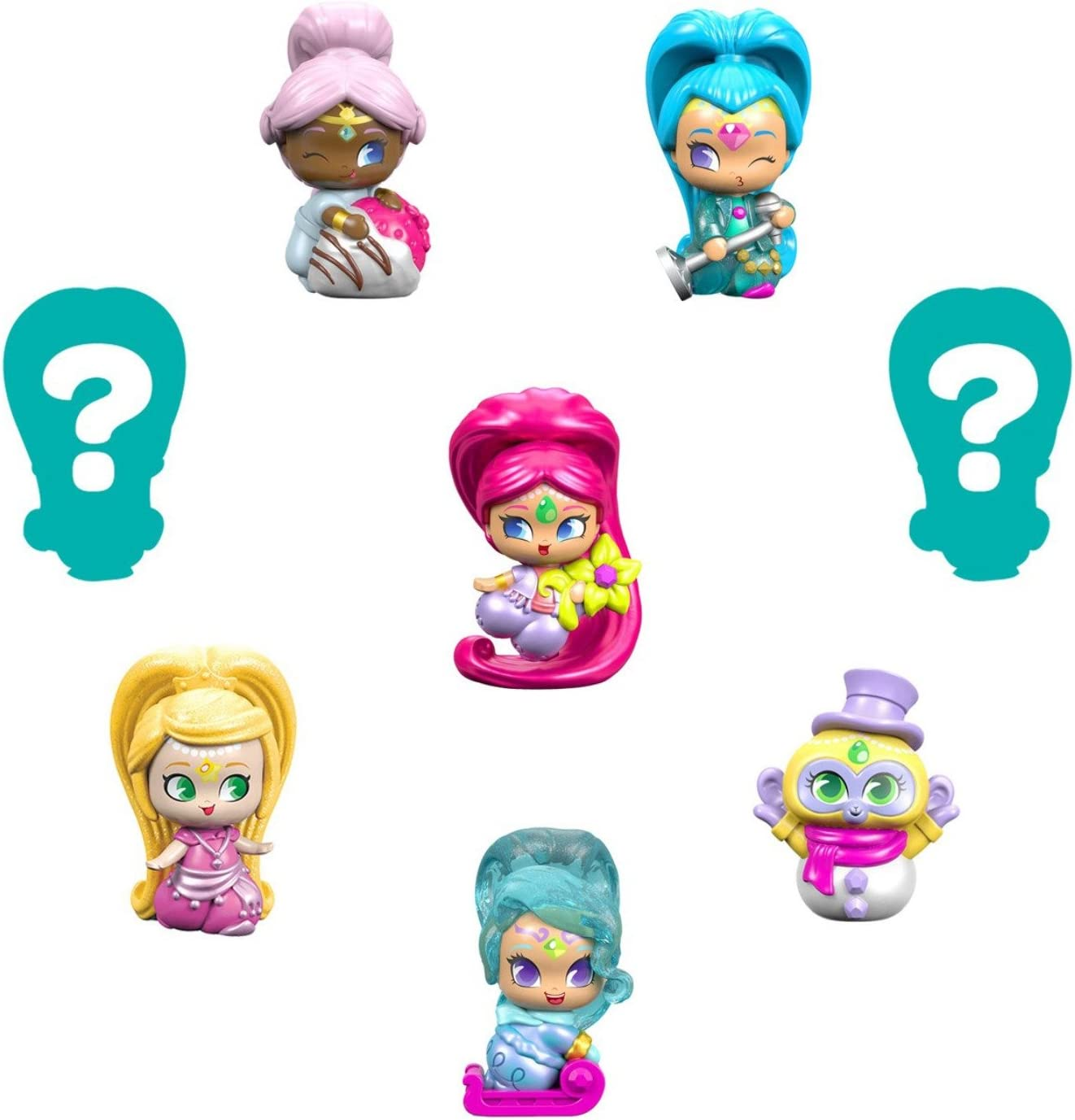 #8 8 Pack Teenie Genies Fisher-Price Nickelodeon Shimmer /& Shine Series 2 Genie