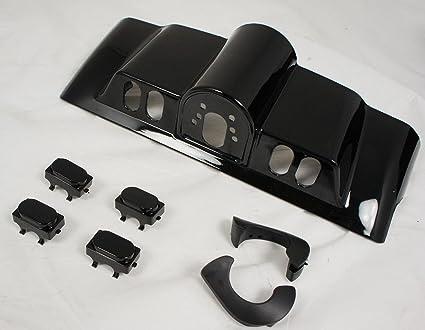 Mutazu New Vivid Black Inner Fairing Cap kit w/Switch Cap fits Harley FLHR  FL Touring