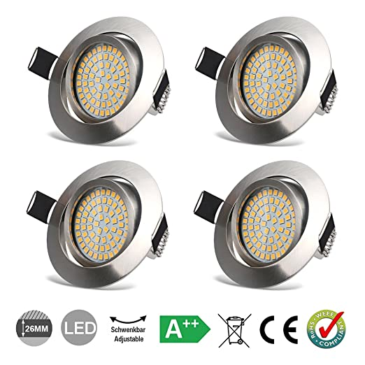 Led recessed ceiling lights spotlights 35w downlights warm white led recessed ceiling lights spotlights 35w downlights warm white 3000k 400lm 230v ip20 protection round mozeypictures Image collections