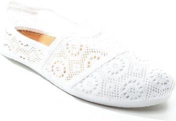 6ae37339c1 Pink Label Women s Perforated Mesh Slip-On Ballet Flat