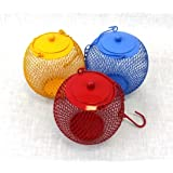 3 Assorted Colorful Seed Ball Bird Feeders or Candle Holders in One Package
