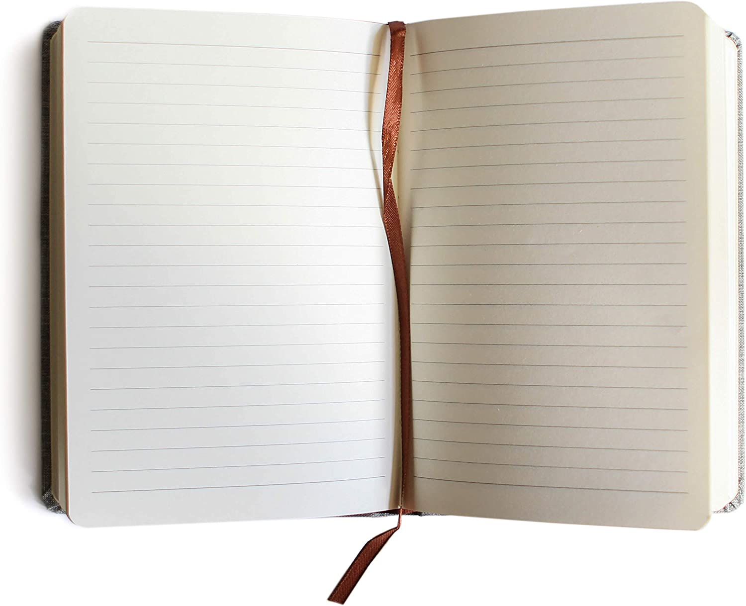 Fine Linen Covered Journal Ruled Notebook 8.4 x 5.7 in by Bucksaw