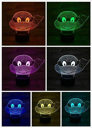 3D Night Light LED Lámpara de escritorio Control remoto 7 ...