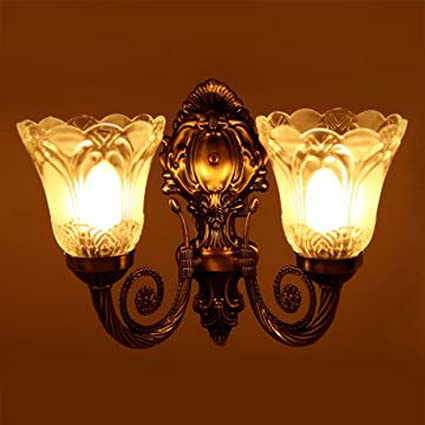 Sfl Antique Look Portuguese Style Double Lamp Wall Light/ Decorative Lamp /  Wall Hanging Light