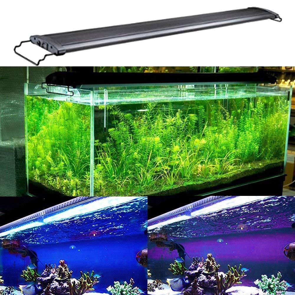 KZKR Aquarium Hood Lighting Fish Tank Light 48-60 inch lamp for Freshwater Saltwater Marine Blue and White Decorations Light 120-150 cm by KZKR