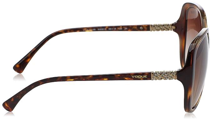 Amazon.com: Vogue inyectado mujer ovalado anteojos de sol de ...