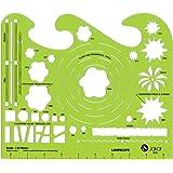 Jakar Landscape Garden Stencil Template Artist Design Drawing Aid Tool 4674