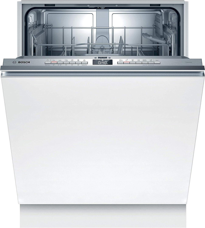Lavavajillas Bosch SMV4HTX31E Serie 4, totalmente integrado, A++, 60 cm, 258 kWh/año, 12 MGD, Silence, InfoLight, secado extra, cesta para cubiertos Vario, Home Connect
