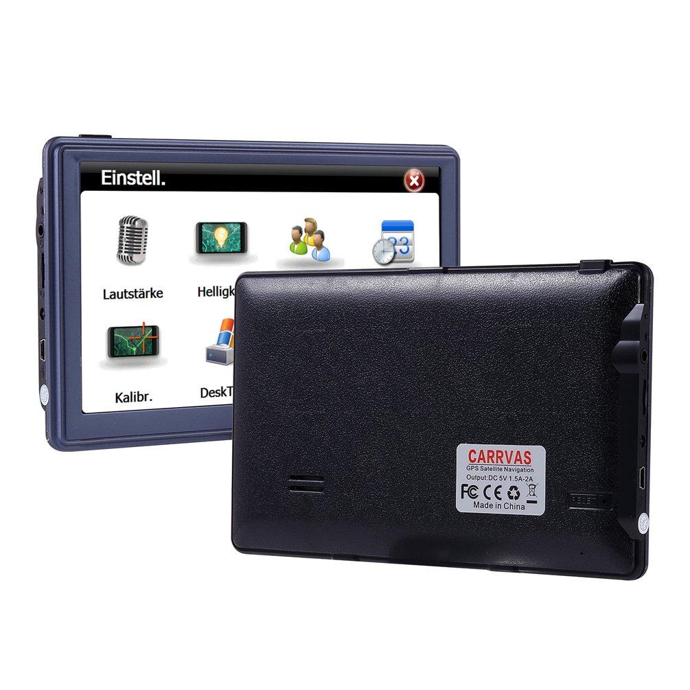 GPS para Coche CARRVAS 7 Pulgadas Sat Nav HD Pantalla T/áctil Navegador GPS Actualizaci/ón