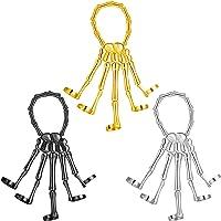 Yaomiao 3 Pieces Halloween Skull Skeleton Hand Bracelet with Ring Gothic Skull Fingers Metal Bracelets Punk Skeleton…
