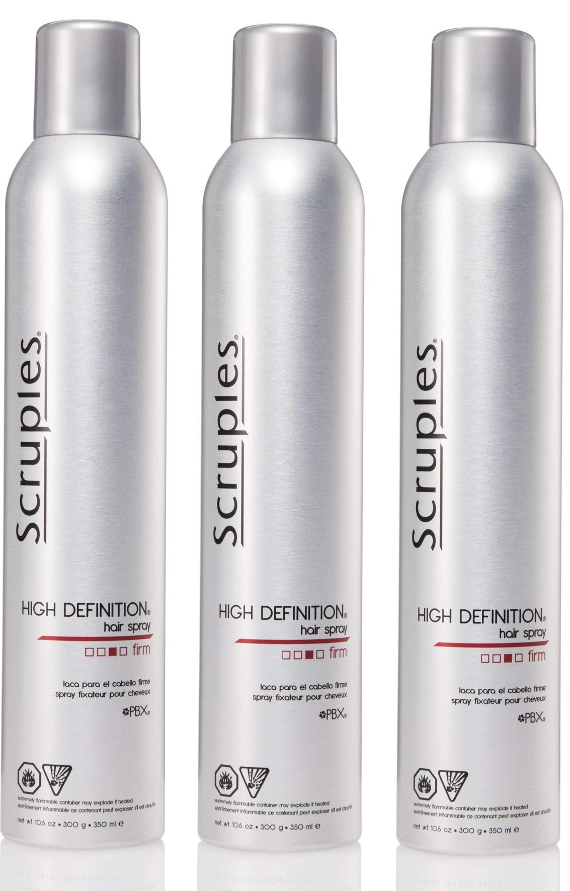 Scruples High Definition Hair Spray for Men & Women (10.6 Oz) - Shaping, Volumizing, Texturizing Setting Spray for Shine and Frizz Control - Suitable For All Hair Types (Pack of 3) by Scruples