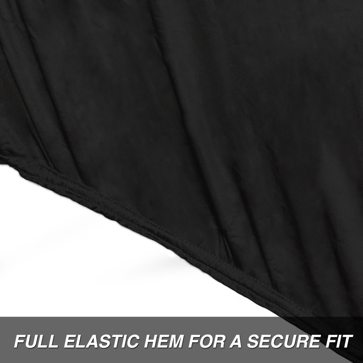 MC095003002 Budge Soft Stretch Motorcycle Cover Indoor Fits Motorcycles up to 86 Long Nylon and Polyester, Black