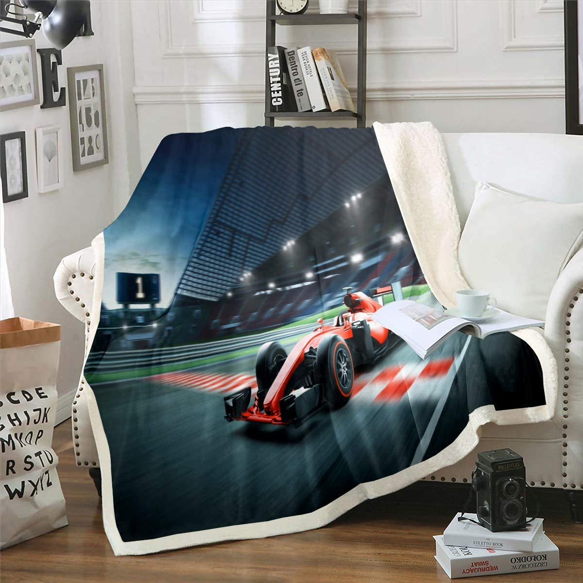 Racing Car Blanket for Kids