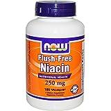 [海外直送品] ナウフーズ [ お得サイズ ] フラッシュフリー ナイアシン(ビタミンB3) 250mg 180粒