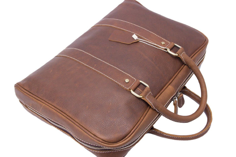 Jellybean Gorilla Handcrafted Full Grain Genuine Leather Business Briefcase Men Messenger Bag for 15-Inch Laptop by Jellybean Gorilla (Image #3)