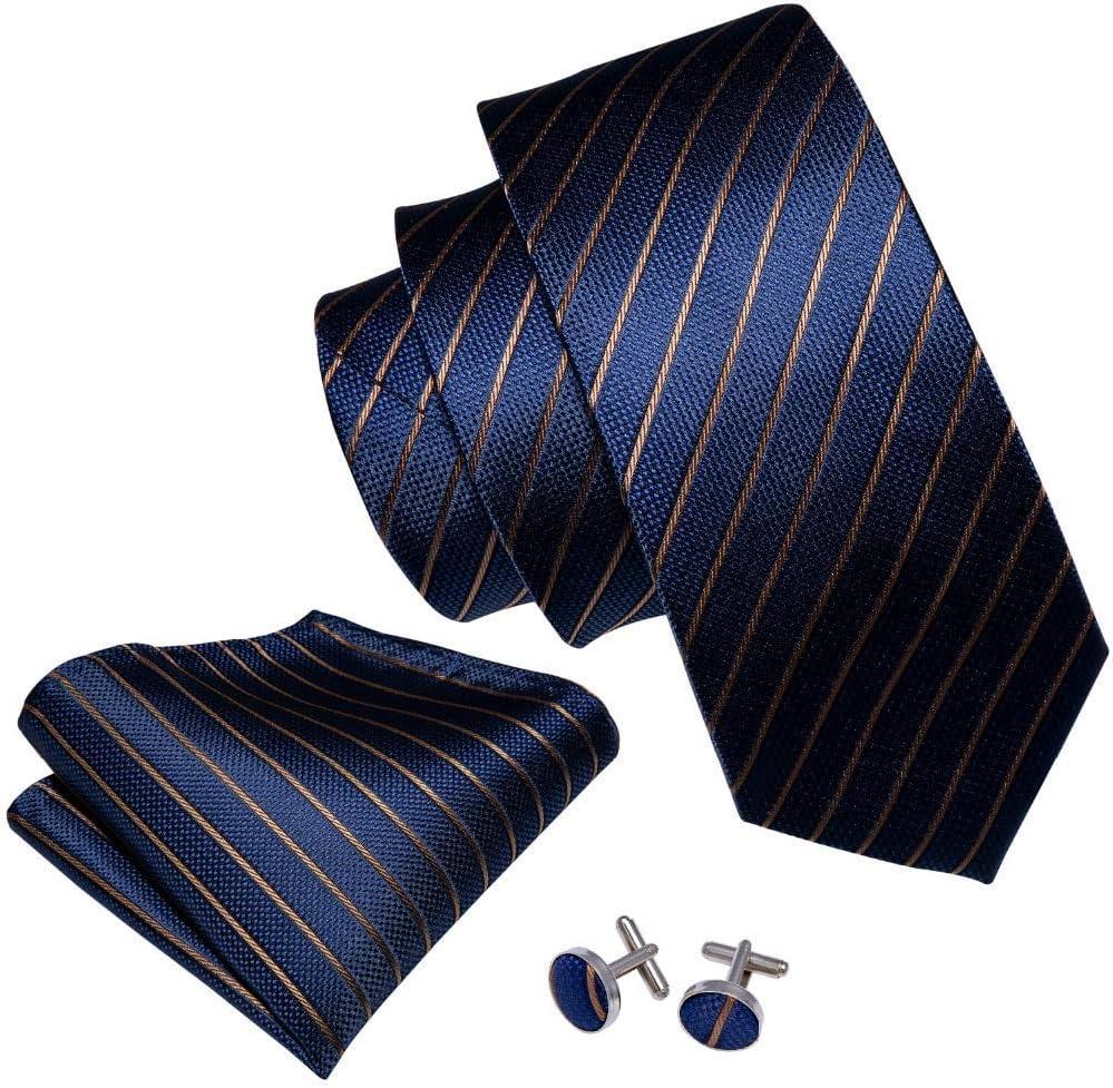MU Ocio Hombres S Tie Blue Business Style 100% Seda Fahion ...