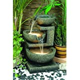 3-Bowl Cascade Water Fall Outdoor Fountain with Lights