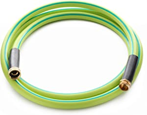 Atlantic Premium Hybrid Heavy Duty Garden Hose 5/8 IN. x 10 FT. Brass Fittings Light Weight and Coils Easily, Kink Resistant