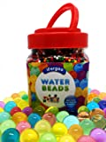 Water Beads, iFergoo 10 oz (38000 Beads) Crystal Water Gel Bead Pearls for Vase Filler, Spa Refill, Sensory Toys, Colorful Décor & Outdoor Play