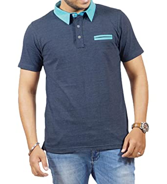 7f52378c4ac91 JOPO Men s Cotton Half Sleeve Polo T-Shirt with Collar  Amazon.in ...