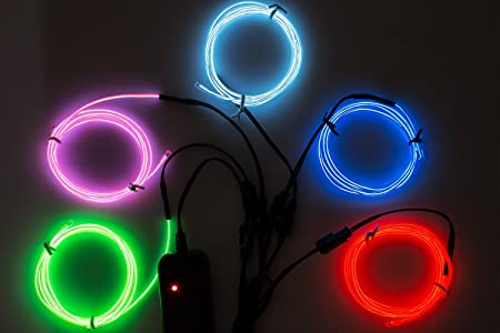 Litake el wire light modes neon light battery powered