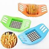 Topker Trancheuse de légumes et pommes de terre en acier inoxydable Coupeuses de coupe Cut Fries Device