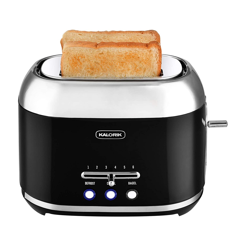Kalorik 2-Slice Retro Toaster (Black)