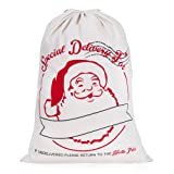 "Amazon Price History for:Personalized Santa Sack,HBlife Christmas Gift Cotton Santa Bag with Drawstring Size 19.7""x27.6"""