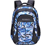 Shark Backpack for Boys, Kids, Teens by Fenrici, Durable 46 cm Book Bags for Elementary, Middle, Junior High School Students, Supporting Kids with Rare Diseases (Bravery, Medium)