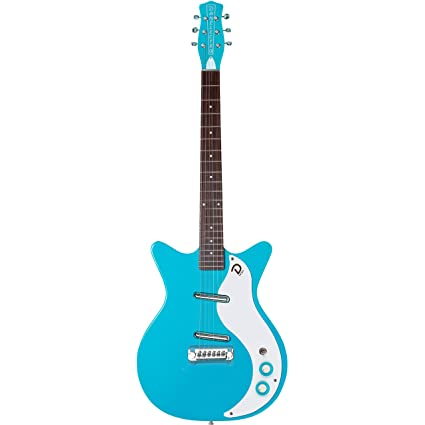 Danelectro 59M NOS+ Double Cutaway Electric Guitar (Baby Come Back Blue)