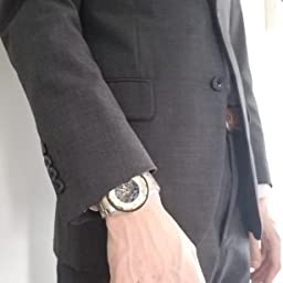 Amazon Co Jp 腕時計 メンズ腕時計 機械式 クラシック 高級 ファッション メカニカル ステンレススチールウォッチ スケルトン 防水 ホロー スチームパンク ドレス時計 腕時計