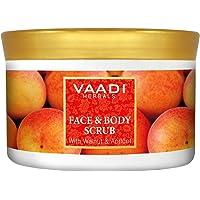 Vaadi Herbals Face and Body Scrub, Walnut and Apricot, 500g