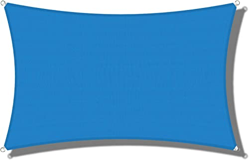 Coarbor Blue 11'x20' Sun Shade Sail Canopy UV Block UV Resistant Heavy Duty Commercial Grade Outdoor Patio Carport Custom