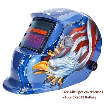 Casco de soldadura Oscurecimiento Automático Solar Pro Racer máscara, ajustable sombra gama 4/9