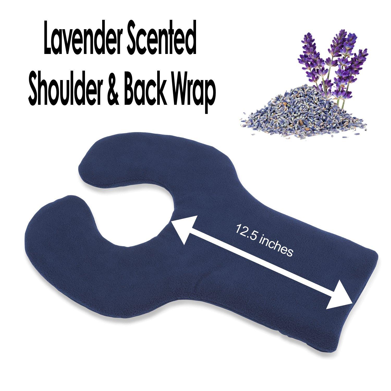 Sunny Bay Lavender-scented Shoulder and Upper Back Heat Wrap, Large, Navy blue (navy blue)