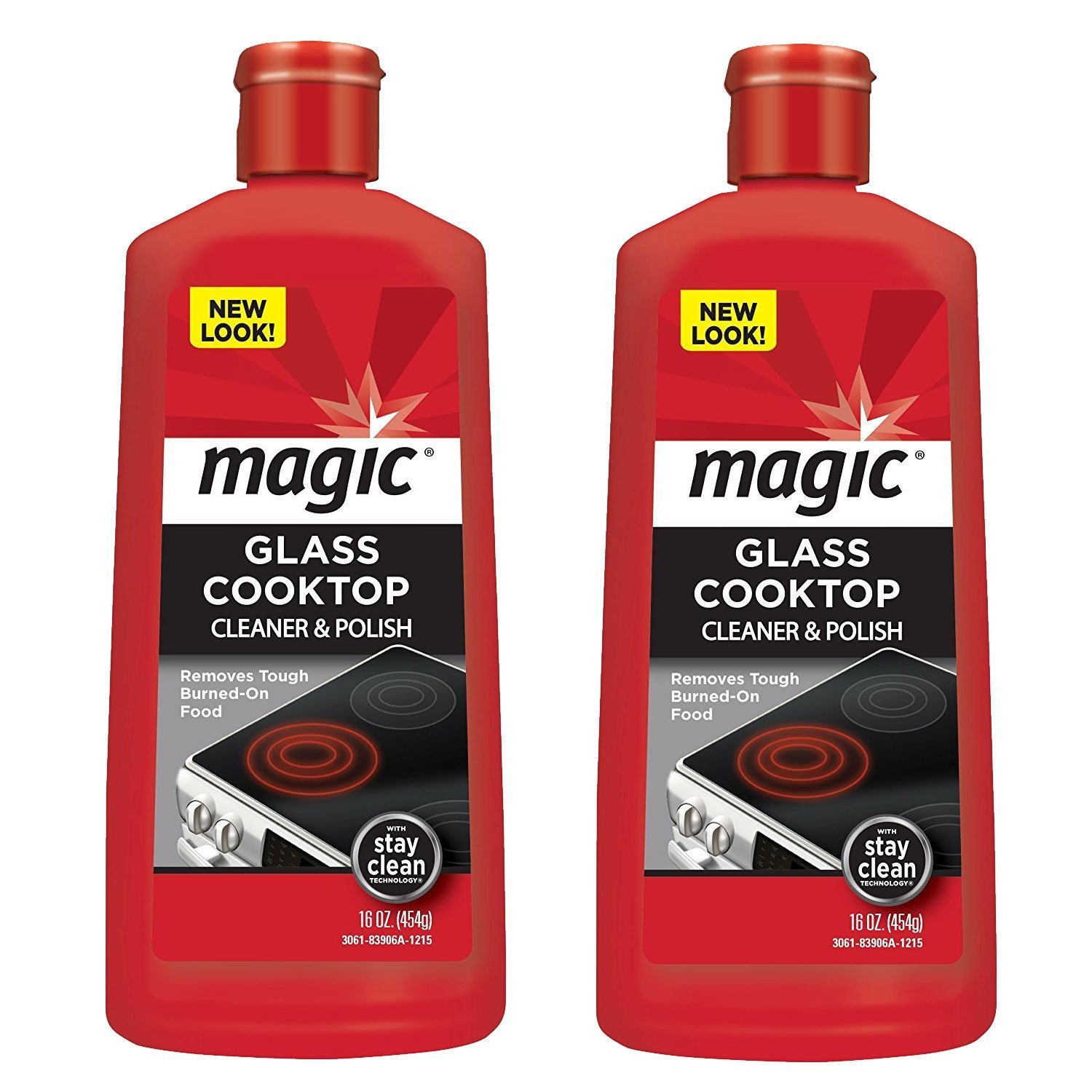 Magic Glass Cooktop Cleaner and Polish - 16 Ounce - 2 Pack - Professional Home Kitchen Cooktop Cleaner and Polish Use On Induction Ceramic Gas Portable Electric