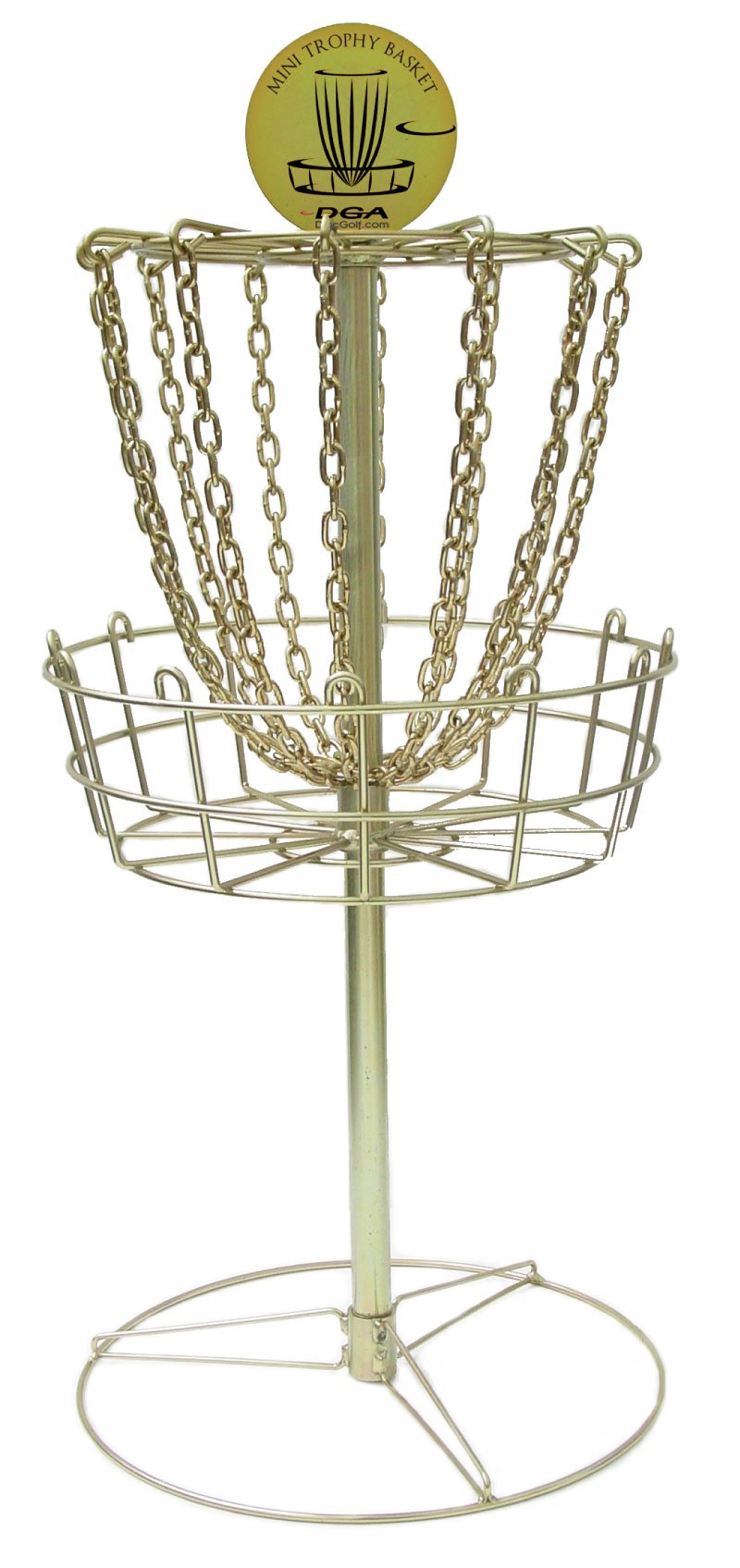 DGA Mini Trophy Disc Golf Basket (Gold) by DGA