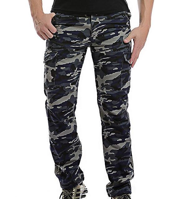 60a4a079fff AYG Invierno Terciopelo Hombre Pantalon Laboral Cargo Pants Warm Trousers  29-40  Amazon.es  Ropa y accesorios