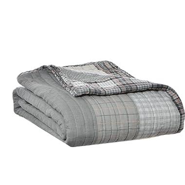 Eddie Bauer Fairview Quilted Cotton Throw Blanket