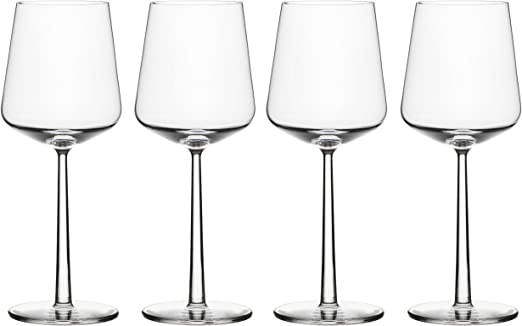 Iittala ESSENCE Red Wine Glass 4 Available EXCELLENT 15 oz Modern Clear Crystal