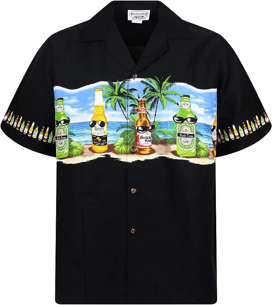 P.L.A. Original Camisa Hawaiana, Corona Chest Pressure, negro 4XL: Amazon.es: Ropa y accesorios