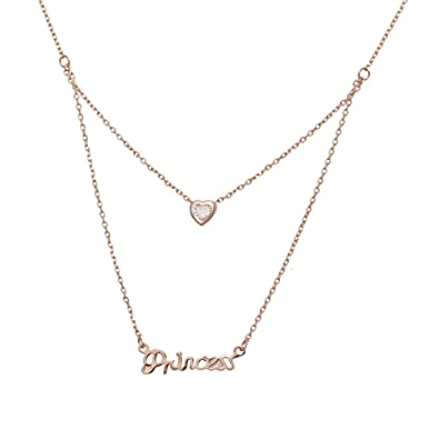 eb3b287e38a Buy Aaishwarya Love Bling Princess Layered Pendant Necklace/Chain for Women  & Girls Online at Low Prices in India | Amazon Jewellery Store - Amazon.in