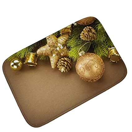 classical european fireplace holiday decorations carpet floor mats christmas new study bedroom entry mat golden pine - Fireplace Christmas Decorations Amazon